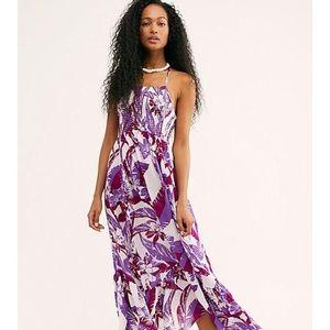 Free People Heat Wave Printed Maxi Dress
